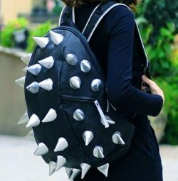 A backpack with spikes. a new treasure backpack! !!!!