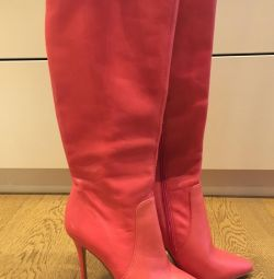 Leather boots Paolo Conte 37r fall / spring (new)