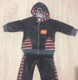 Suit children's velor new