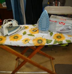 USSR ironing board with iron iron