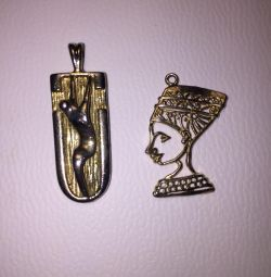 Pendants of 2 pieces (Nefertiti)
