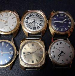 Часы Восток СССР, позолоченные