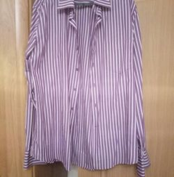 Men's shirt with a strip r. 42