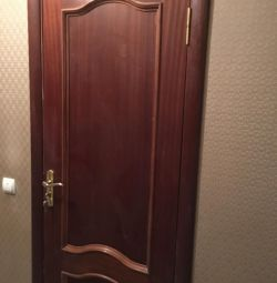 Doors from solid wood Interior used 3 pieces