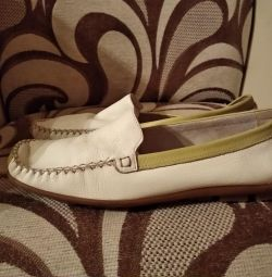 Moccasins made of leather for men