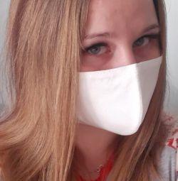 Reusable white medical mask