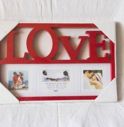 Frame LOVE photo frame red new