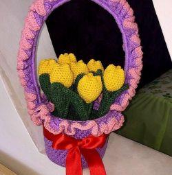 Корзинки с цветами ручной работы