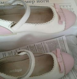 Leather shoes antilopa