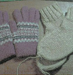 Double gloves, socks, scarf.