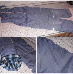 Pantaloni din salopete