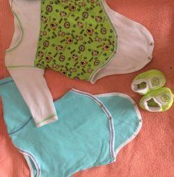 Baby clothes (9pcs) 56-62 sizes