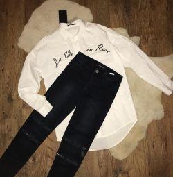 Tricou și blugi pentru femei noi