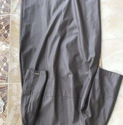 Шикарное платье кожа ЭКО