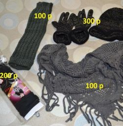 Hat, scarf, gloves
