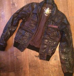 Jachetă din piele pentru femei