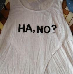 Сарафан и длинная футболка.