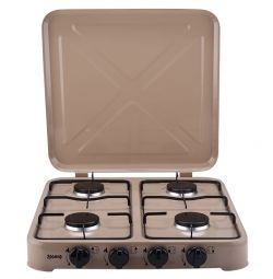 Desktop gas stove with lid 4 burners