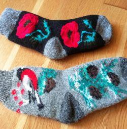 Νέες κάλτσες από μαλλί