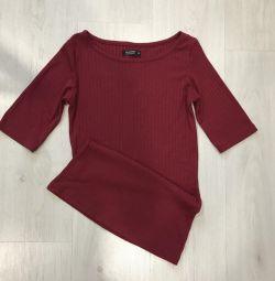 Bluză burgundă