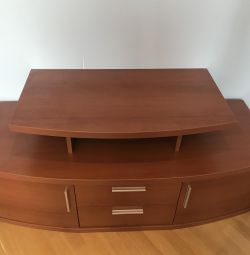 TV stand + GIFT shelf with glass