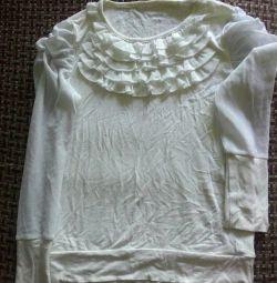 Σχολική λευκή πλεκτή μπλούζα