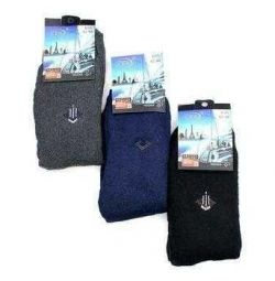 Men's socks with elastic with compression effect