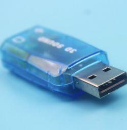 USB mini placă de sunet sunet 3D