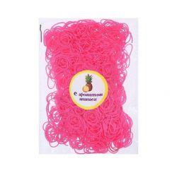 Un set de benzi elastice pentru păr, 200 buc., Aromă de ananas.