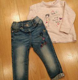 Jeans + tricou următoarea 1,5-2 ani