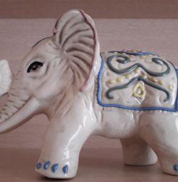 Porcelain elephant.