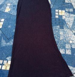 Юбка в пол черная
