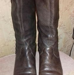 Leather boots demisezon, р.38, пр-во india