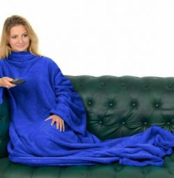 Plaid with sleeves Snuggie new
