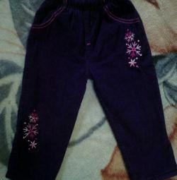 Вельветовые джинсы.
