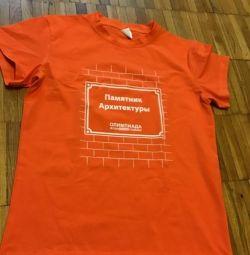 Νέες μπλούζες πορτοκαλί βαμβακιού