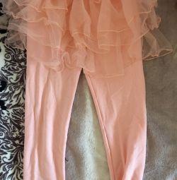 Leggings with a skirt