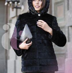 Yeni şık vizon ceket