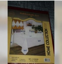 New tablecloth with napkins tablecloth set