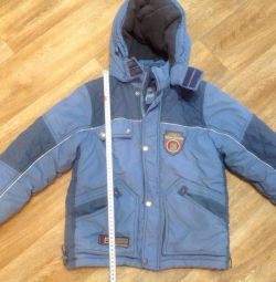 Winter jacket for a boy of 6-8 years.