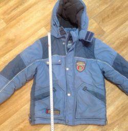 Куртка зимова на хлопчика 6-8 років.