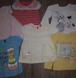 Tricouri pentru o fată de 2-3 ani