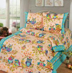 A set of bed linen