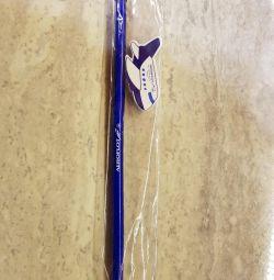 Pencil + eraser. Aeroflot.