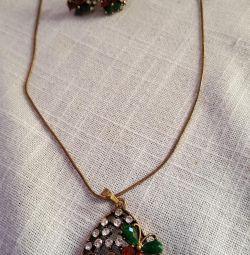 Earrings, jewelry chain