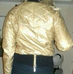 Το σακάκι είναι χρυσό χρώμα, μέγεθος 46 = 48.