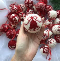 Christmas ball Knitted