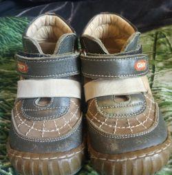 Δερμάτινα μπότες 21 μέγεθος