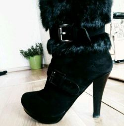 Natur. Winter fur boots!