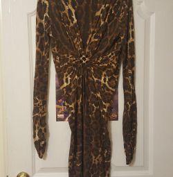Warm leopard dress